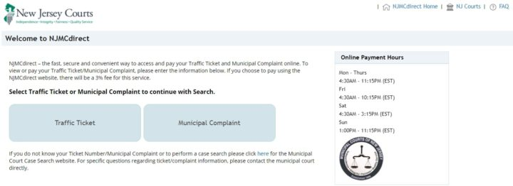 NJMCDIRECT - NJ Traffic Ticket Payment Online
