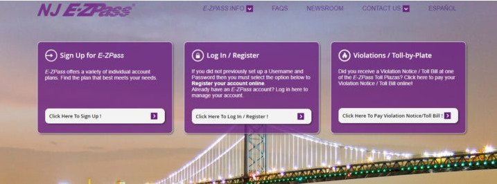 ez pass image on sign in and sign out