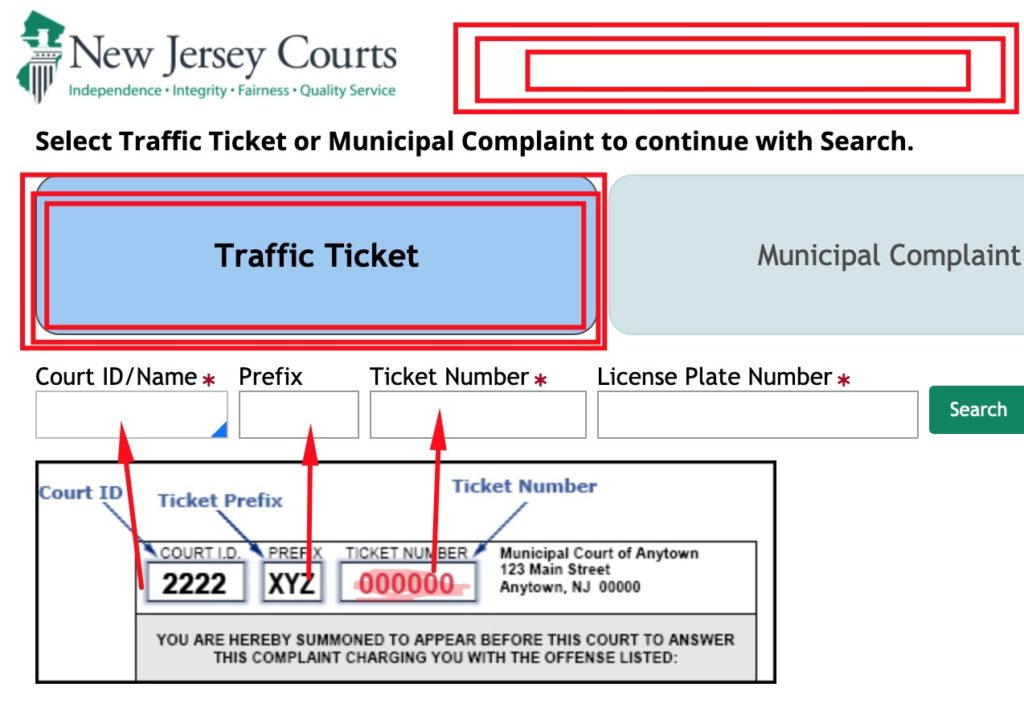 WWW.NJMCDIRECT.COM Traffic Ticket Payment